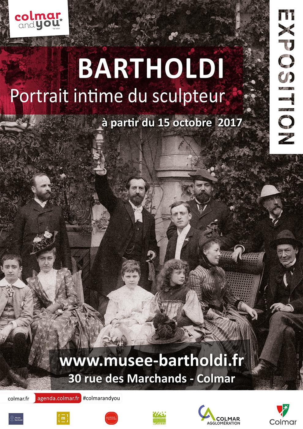 """Affiche de l'exposition """"Bartholdi, portrait intime du sculpteur"""""""