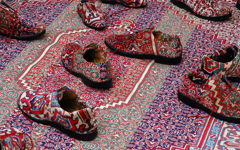 Naji Kamouche, Caresser l'errance d'un pas oublié, 2005 (détail)