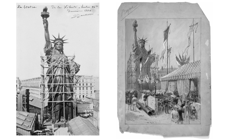 La statue de la Liberté (montage à Paris)