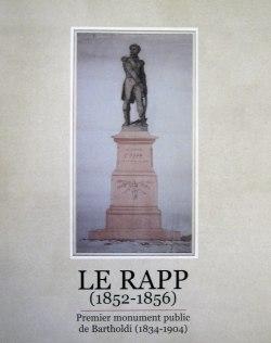 Le Rapp : premier monument public de Bartholdi