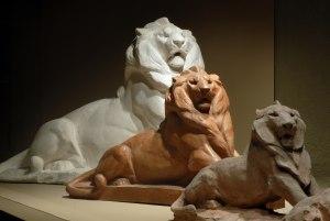 la salle du Lion de Belfort au musée Bartholdi
