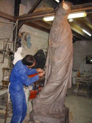 Réalisation d'un agrandissement de la statue de la Liberté
