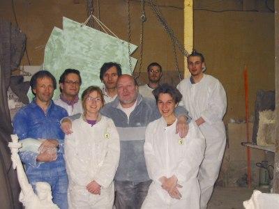L'équipe Liberty dans son atelier