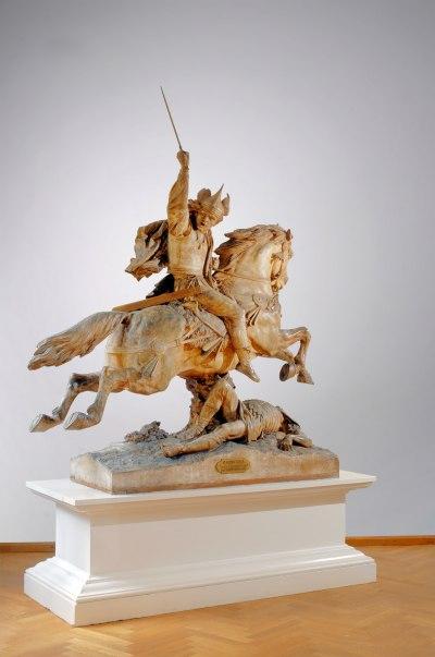 La statue équestre de Vercingétorix