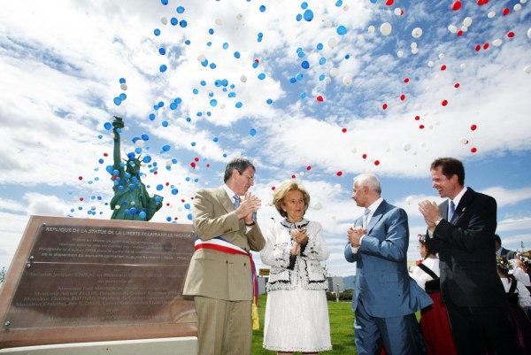 Inauguration de la statue de la Liberté de Colmar
