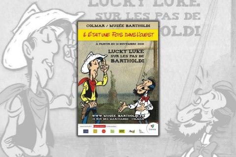 Exposition temporaire : Il était une fois dans l'Ouest, Lucky Luke sur les pas de Bartholdi
