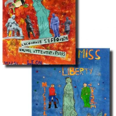 Affiches du film réalisées par les élèves : travail en groupe
